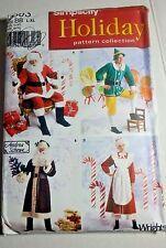 Simplicity Holiday Christmas Costume Pattern Santa Mrs Claus Elf Uncut L-XXL