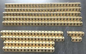 MECCANO Lot de cornières dorées anciennes