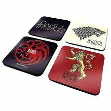 Game Of Thrones Buvant Set de Sous-Verres = Bière Tapis Emballé Cadeau Stark