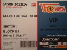 VIP TICKET Friendly 2013/14 Union Berlin - Celtic FC
