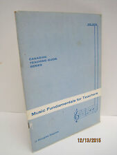 Music Fundamentals For Teachers by J. Douglas Staples Vintage 1960