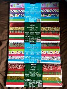 Print Gift Tissue - Christmas style paper - 160 sheets - Kirkland -50.8 x 60.9cm