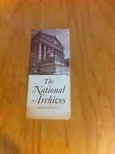 1958 National Archives Washington, D.C. Brochure *