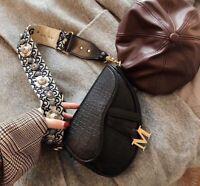 MARS SHARING Women Saddle Bag Handbag Shoulder Bag Crossbody Tote Messenger