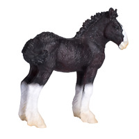 .Mojo SHIRE HORSE FOAL toy model figures kid girls plastic animals farm figurine