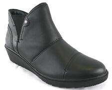 Hush Puppies Stiefelette 36 LEDER Boots Schwarz Keilabsatz Chelsea Style Top NEU