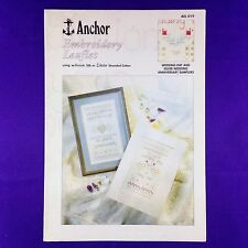 "Anchor Cross Stitch Charts ""Wedding Day"" & ""Silver Wedding Anniversary"" Samplers"