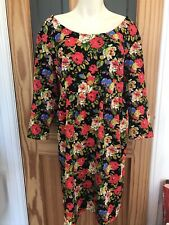 Joe Browns Tunic Dress UK 20 Lovely Floral Design New With Out Tags