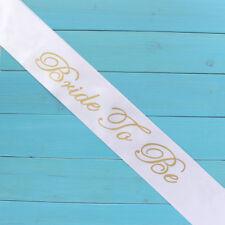 Hot White&Gold Bride to be Sash Girls Hen Night Bachelorette Bridal Shower Party