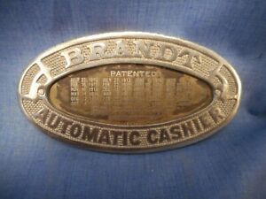 T-5 Vintage Brandt Cashier Coin Cash Register Emblem Steampunk Jewelry Pendent