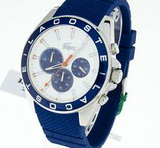 LACOSTE Herrenuhr Modell 2010854 Westport Silikonband blau Stoppuhr Chrono 5ATM