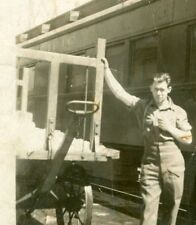 Canadian Soldier at Railway Station, WW2, Original Photo