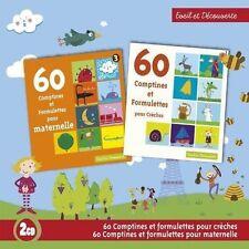 16152 //60 COMPTINES POUR MATERNELLES + 60 COMPTINES POUR CRECHES COFFRET 2 CD