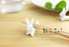 Cute Bunny Chopstick Rest Novelty Lovely Kawaii Gift China Set of 1 ,2 or 4 Home