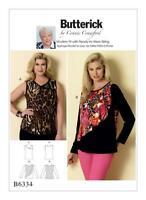Butterick Sewing Pattern 6334 Misses/Womens Sleeveless Flounce Tops XS-XL UC