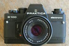 Praktica B100 35mm SLR Film Camera + Prakticar 50mm 1:2.4 Pancake Lens .