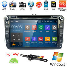 "VW Golf MK5 HD8"" Car Radio Stereo DVD Player Bluetooth GPS Navigation+CAMERA+MAP"