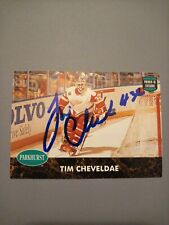 1991-92 Parkhurst Tim Cheveldae Red Wings Auto Autographed Signed Card
