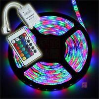 3528 RGB LED Strip Light 5M 60leds/M Flexible Rope + IR 24Key Remote DC12V IP65
