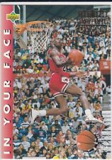 MICHAEL JORDAN In Your Face Upper Deck SLAM DUNK CHAMPION Bulls Basketball Card!