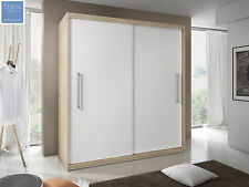 BRAND NEW SLIDING DOOR BEDROOM WARDROBE 6 ft 8 inch(204cm) SONOMA OAK & WHITE