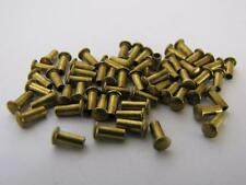 NEW-KNIFE-PARTS-KITS-ACCESSORIES:SCHRADE Round Head Brass 4 mm Scale Rivets S201