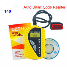 QUICKLYNKS T40 CAN OBDII Scanner Auto Diagnostic Tool OBD2 EOBD JOBD Code Reader