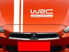 A Set Car Front Hood Cover PVC Stickers  Decals For White Striped & WRC Decals