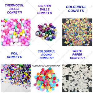 Clear Multi Colour Confetti Filled Balloon Birthday Wedding Halloween Decoration