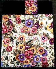 Handcrafted Quilted Cotton Tablet / IPad Case Holder Flower Design!
