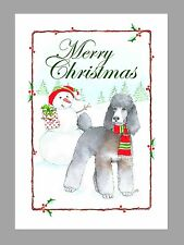 Poodle Silver Sable Phantom Dog Christmas Cards, Box of 16 Cards & 16 Envelopes