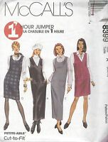 McCall's 8399 Misses' Jumper in Two Lengths   Sewing Pattern