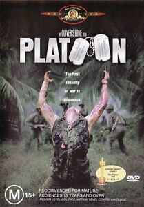 PLATOON (Charlie SHEEN Tom BERENGER Willem DAFOE) Oliver STONE War Film DVD Reg4
