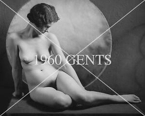 1920s NUDE FLAPPERS 8X10 PHOTO FROM ORIGINAL GLASS NEG!!! 22