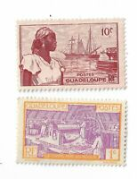 Guadeloupe postage stamps x 2