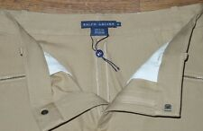 New RALPH LAUREN Equestrian Horse Riding Women's Beige Pants Suede Leather Sz 8