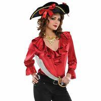 Mujer Disfraz de Pirata Adultos Del Caribe Moza Accesorio Traje para