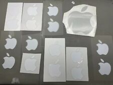 NEW White Apple Logo Decal Sticker 17 Total Stickers Genuine OEM Authentic
