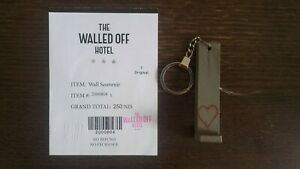 Banksy walled off hotel COA keyfob (invader, kaws, jonone, martin whatson, jace)
