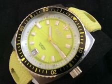 ZODIAC 38MM NEON GREEN DIAL RUBBER ZO2219 AWESOME MINT RARE