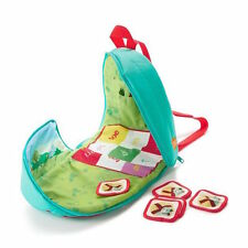 HALLMARK Baby Toy Mason Tic Tac Toe on the Go Knapsack Backpack Game Preschool