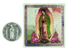 Our Lady of Guadalupe Medal 1 Inch Pocket Token with Holy Prayer Card