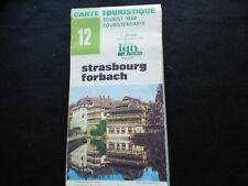 Carte IGN verte 12 strasbourg forbach  1980
