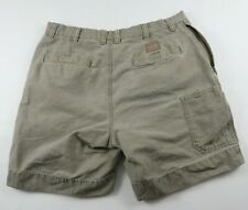 Columbia Mens Solid Beige Outdoor Hiking Khaki Chino Shorts Tag 36 Measured 35