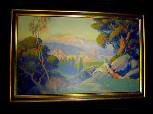 IMPRESSIONISTIC SERIGRAPH OIL PAINTING BY DUNCAN GLEASON STYLE MAXFIELD PARRISH