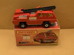 Rare Matchbox Superfast No. 22 Blaze Buster Black Ladder With Box