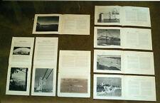 1936 Associated Oil Co, Partially Built Golden Gate & Oakland Bay Bridge Photos