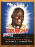 Shaquille O'Neal Nestle Crunch 2002 Vintage Poster Ad Art Print Official Promo