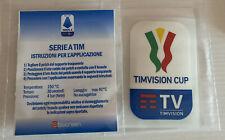 Toppa patch  Finale Coppa Italia 2021 Juventus Atalanta Originale Timvision Cup