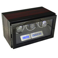 Watch winder - Triple watch luxury finishing with LED light and remote control
